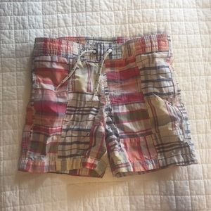 Gap Kids madras swim trunks 3T
